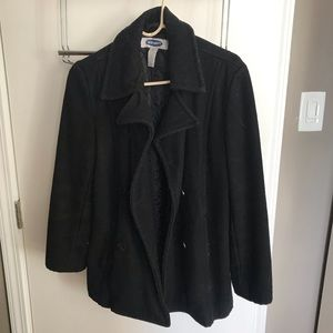 Old navy black peacoat